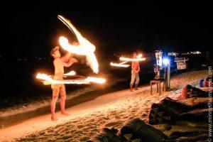 Fire show Thaimaa