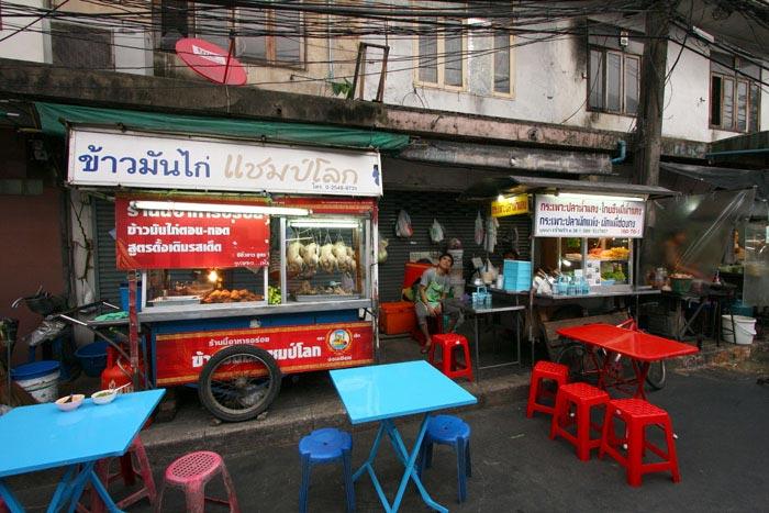 Katukeittiöitä Bangkok Thaimaa