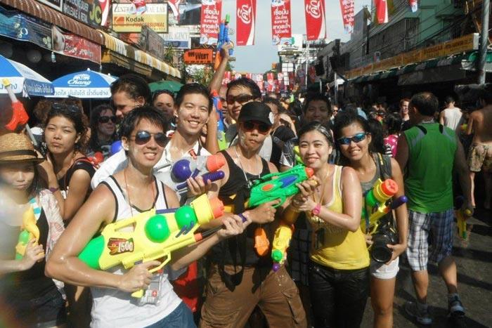 Songkran Bangkok Thaimaa