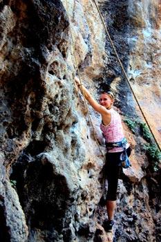Krabi kalliokiipeily Thaimaa