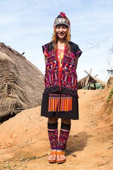 Pohjois-Thaimaa hill tribe
