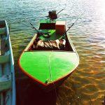 Tällaisella veneellä mentiin.