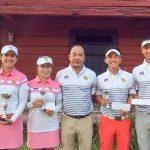 Thaimaan joukkue valmiina taistoon, vasemmalta: Pajaree, Kanyalak. joukkueenjohtaja Kanes, Witchayanon ja Sadom (kuva Loimijoelta).